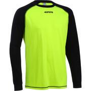Kaos Penjaga Gawang Sepakbola F300 Dewasa - Kuning Hitam