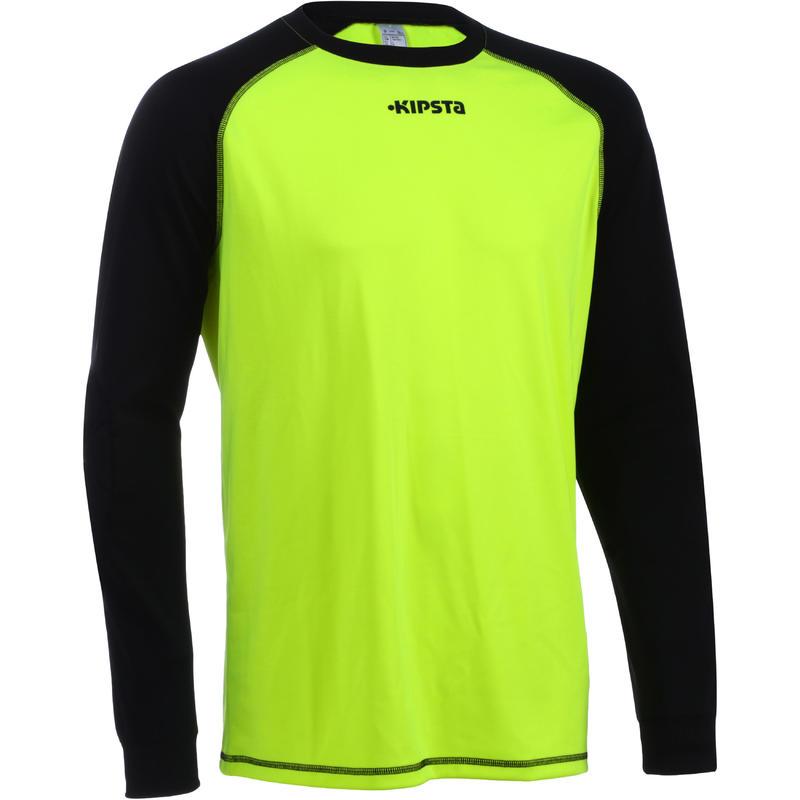 F300  Soccer Goalkeeper Shirt Yellow Black-Adult