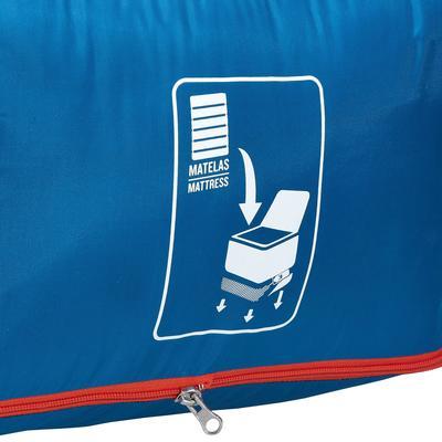 Couchage de camping 2 personnes SLEEPIN'BED COVER 20° bleu (matelas non inclus)
