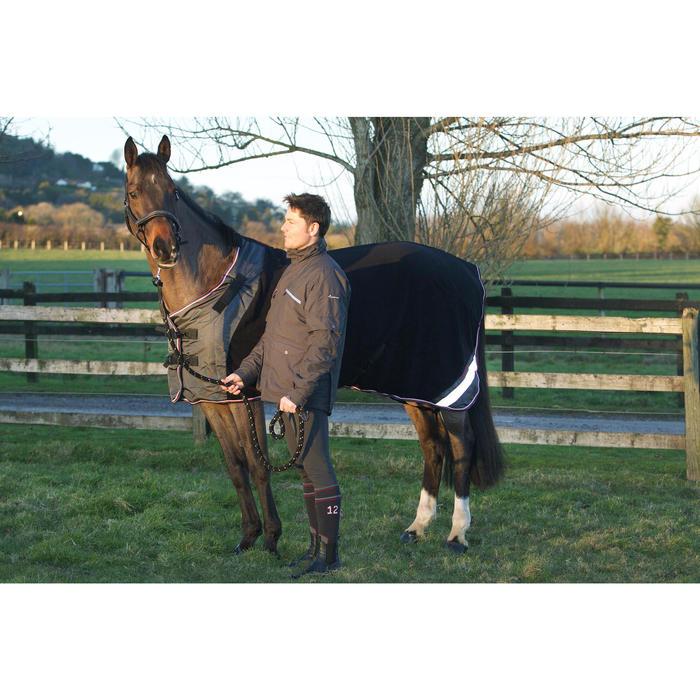 Chemise écurie équitation poney et cheval POLAR 800 noir / gris - 90864