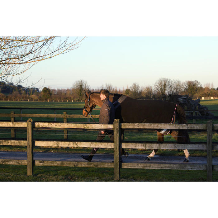 Chemise écurie équitation poney et cheval POLAR 800 noir / gris - 90867