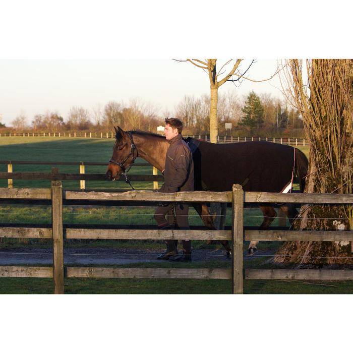 Chemise écurie équitation poney et cheval POLAR 800 noir / gris - 90868