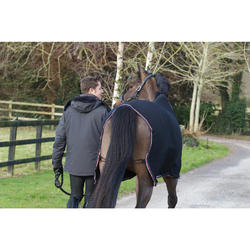 Manta ligera secante equitación poni y caballo de MICROFIBRA negro