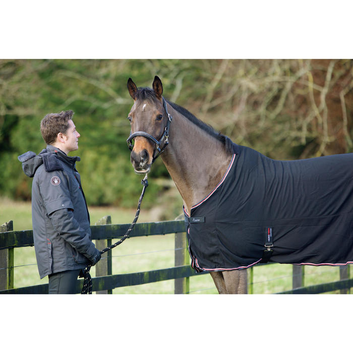 Chemise séchante équitation poney et cheval MICROFIBRE noir