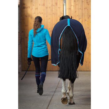Chemise d'écurie équitation POLAR 500 marron -  poney et cheval - 90888