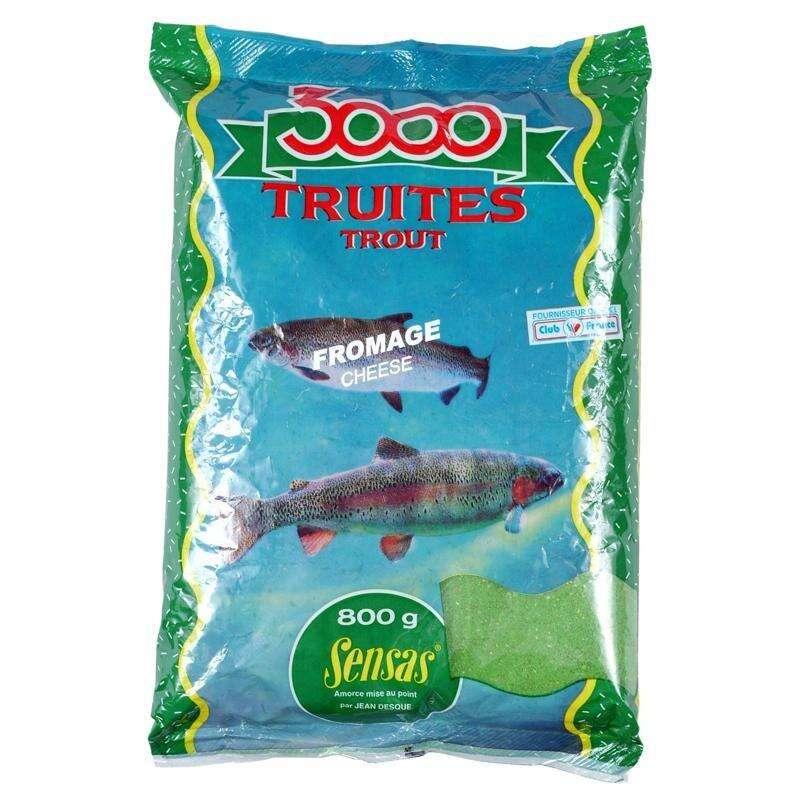 PASTE PĂSTRĂV Pescuit - Pastă Păstrăv Brânză 3000  SENSAS - Pescuit la pastrav