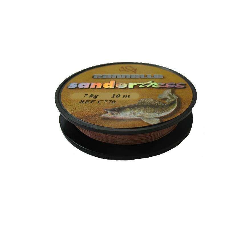 ВЪРЗАНИ КУКИ, ПОВОДИ ЗА ХИЩНИЦИ Риболов - ПЛЕТЕНО ВЛАКНО SANDERTRESS CANNELLE - Аксесоари