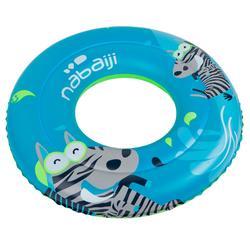 Blauwe zwemband 51 cm met zebraprint en twee luchtkamers kinderen 11-30 kg - 909456