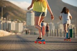 Lage skateschoenen voor dames Vulca canvas allover braids - 90953