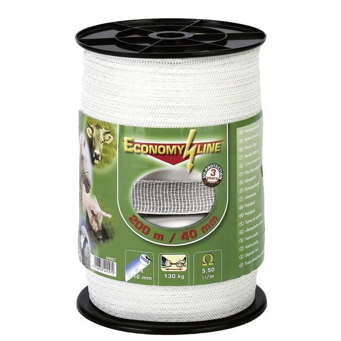 Weidezaun-Band Economy Breite 40 mm × 200 m weiß