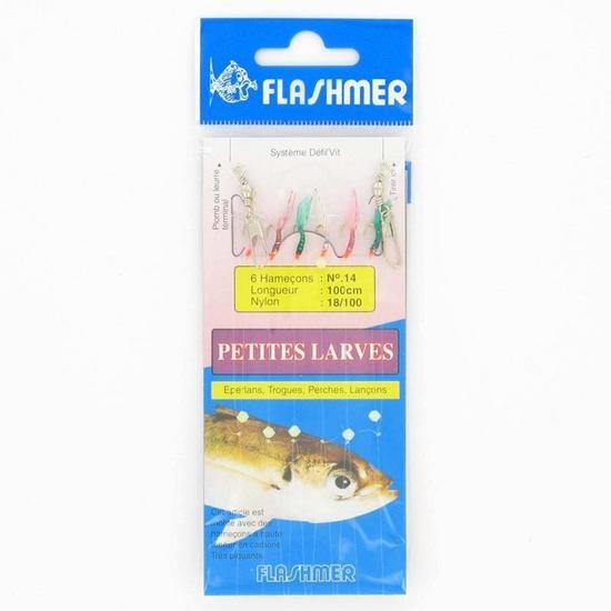 Lepels/Veren voor hengelsport in zee Kleine larven 6 haken nr. 14 - 910674