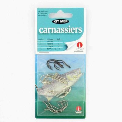 Hameçons pêche en mer KIT CARNASSIER X20