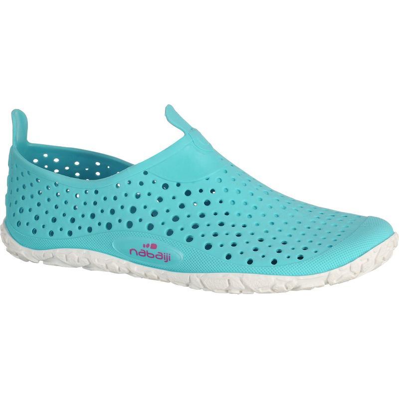 Zapatos acuáticos sin suela Aquagym Aquadots azul blanco