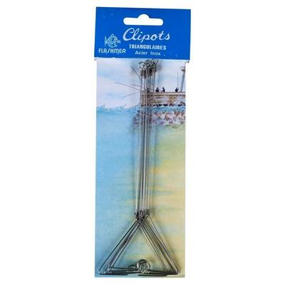 Clipots triangulaires 20cm x5 pêche en mer