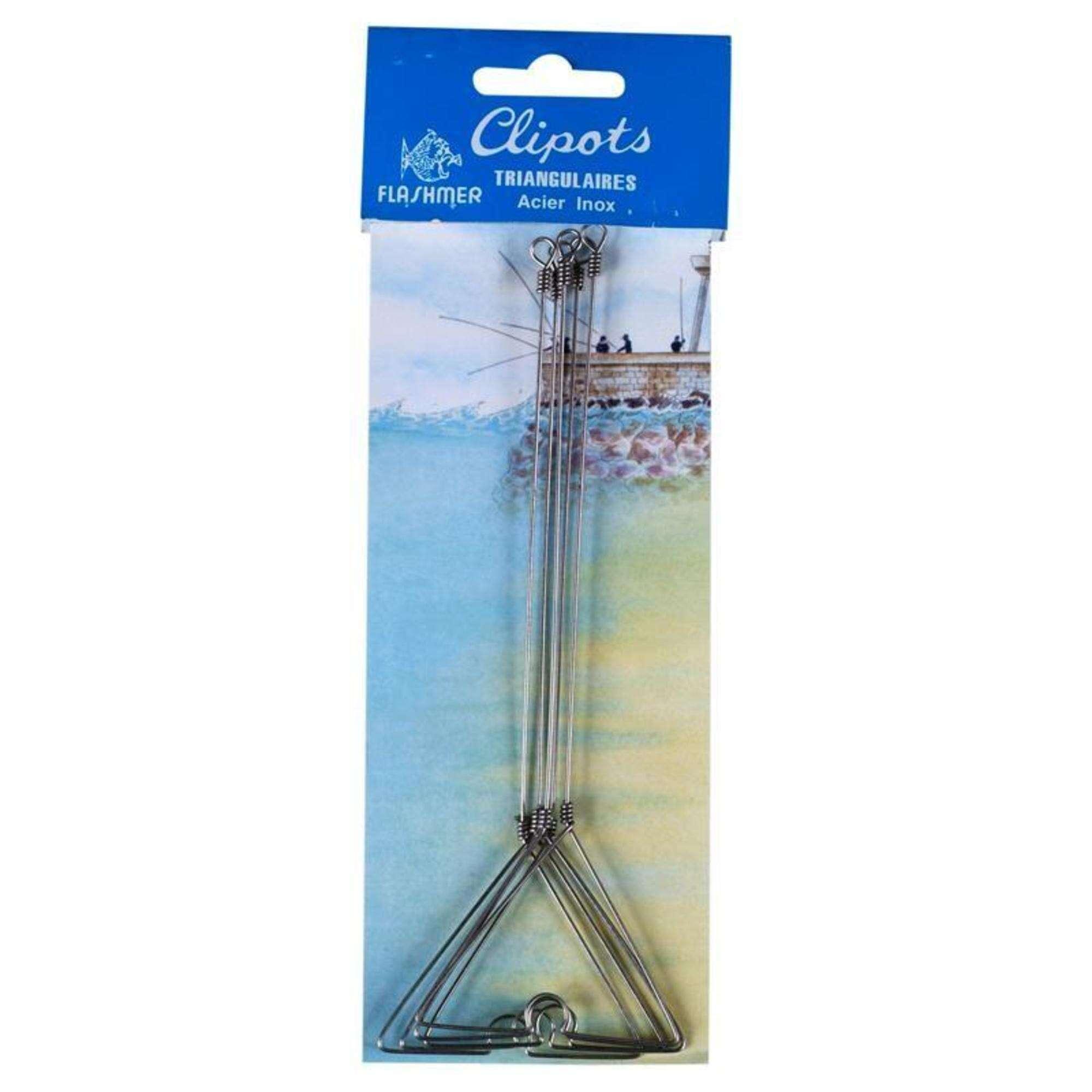 ŁĄCZNIKI Wędkarstwo - 5 łączników trójkątnych 20 cm FLASHMER - Haczyki, kotwiczki, przypony stalowe