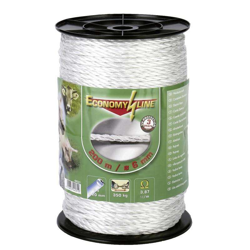 HORSE FENCING EQUIPMENT Horse Riding - 200 m Rope - White AKO - Horse Stable and Yard