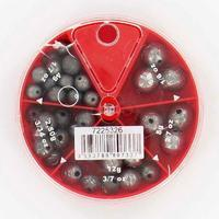 DRILLED ROUND fishing 5 compartments weight box