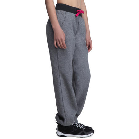 Girls' Brushed-Jersey Regular-Fit Bottoms - Grey