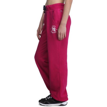 Girls' Brushed-Jersey Regular-Fit Bottoms - Pink
