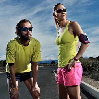 Lunettes de soleil vélo & running adulte RUNYON noires catégorie 3
