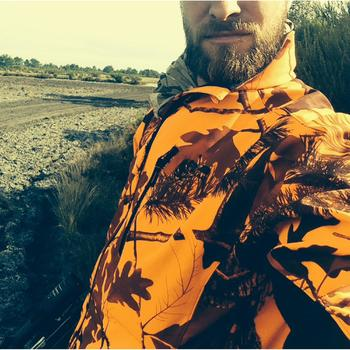 Veste Softshell chasse Sibir 500 camouflage fluo - 911834