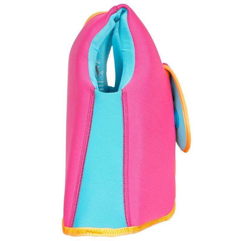 Chaleco de natación espuma rosado-amarillo