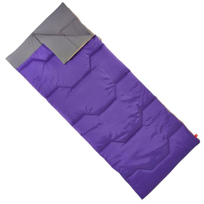 Campingschlafsack Arpenaz 15° rot