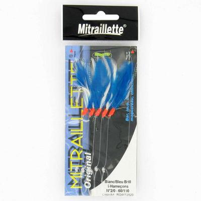 Mitraillette blanc et bleu 2/0 pêche en mer