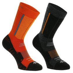 2 paar sokken voor trekking in de winter Forclaz Warm - 912773