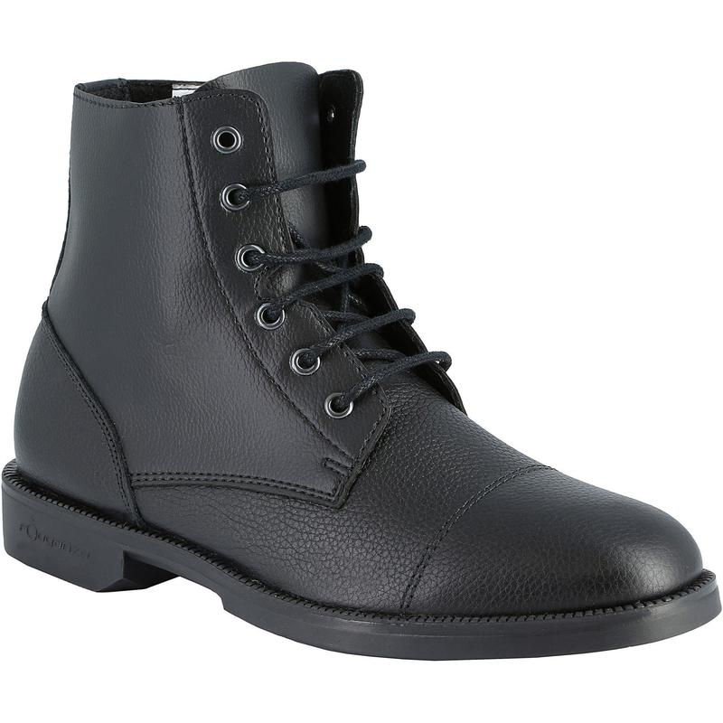 Boots équitation adulte CLASSIC LACETS noir