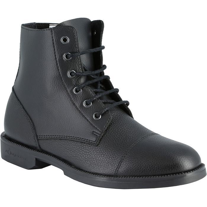Boots équitation adulte CLASSIC LACETS noir - 912805