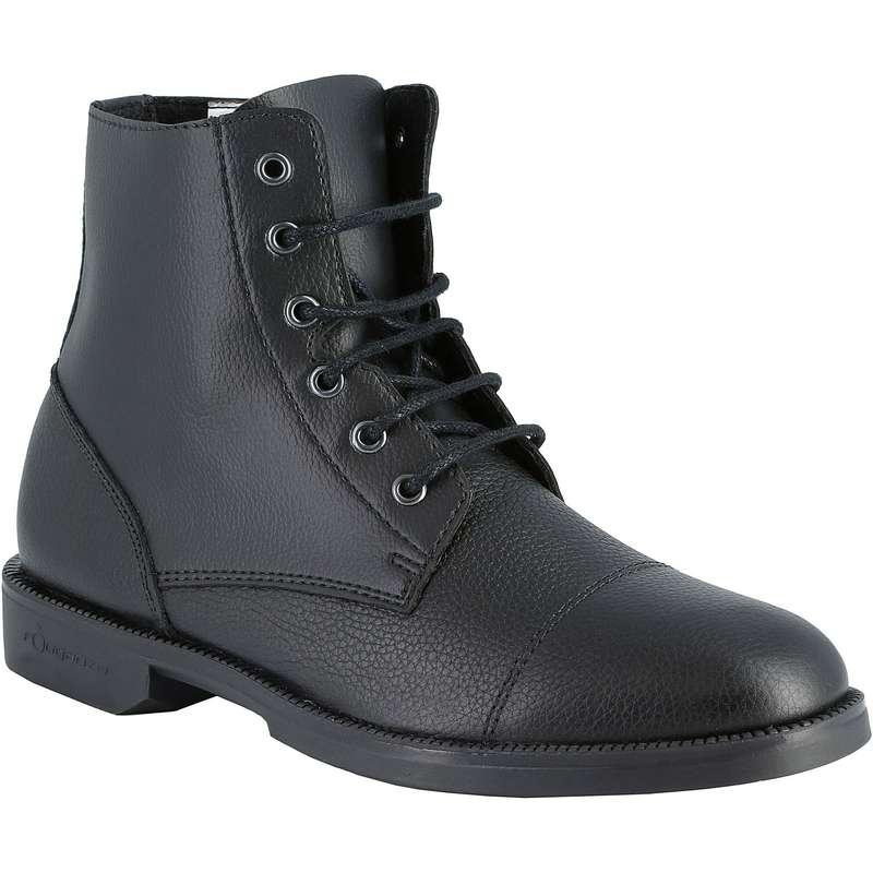 ADULT JODPHUR/PADDOCK BOOTS AND HC - Classic Lace-Up Jodhpur Boots FOUGANZA