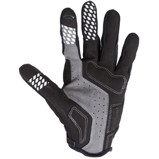 900 Mountain Bike Gloves Black White Gloves