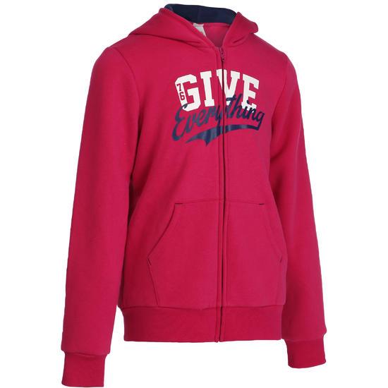 Warme gym hoodie met rits voor meisjes - 91288