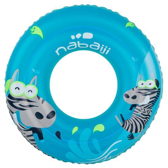 Blauwe zwemband 51 cm met zebraprint en twee luchtkamers kinderen 11-30 kg - 912941