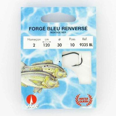 Hameçons pêche en mer MONTÉS BLEU RENVERSÉ 9355 X10