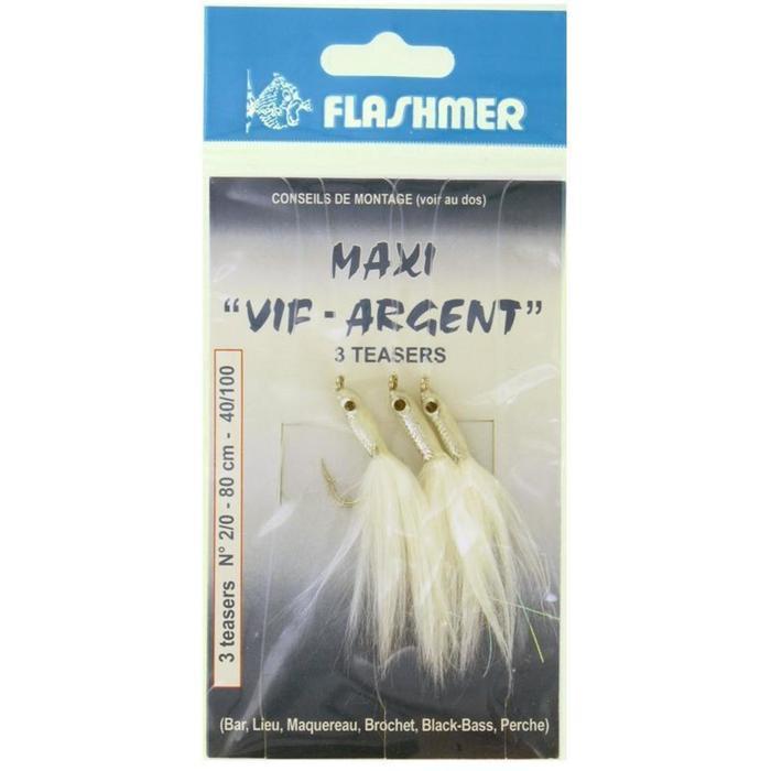Lepels/veren zeevissen Maxi zilver 3 haken 2/0 bl