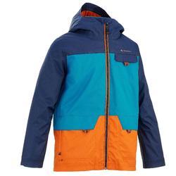 Warme en waterdichte 3-in-1 jongensjas voor trekking Hike 500