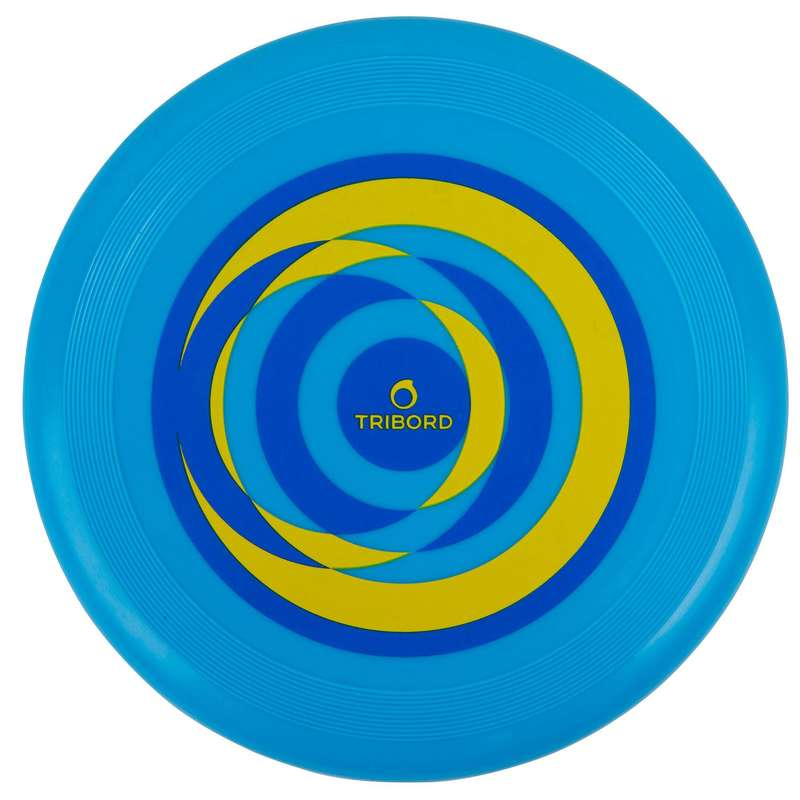 FLYING DISCS / BOOMERANG Frisbees and Boomerangs - D90 Frisbee - Circle Blue OLAIAN - Sports