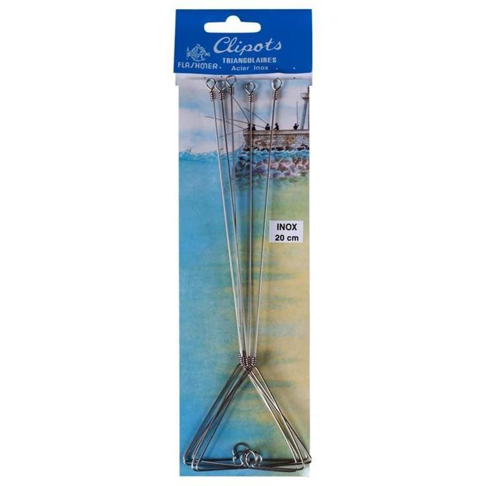 Clipots triangulaires 16cm x5 pêches en mer