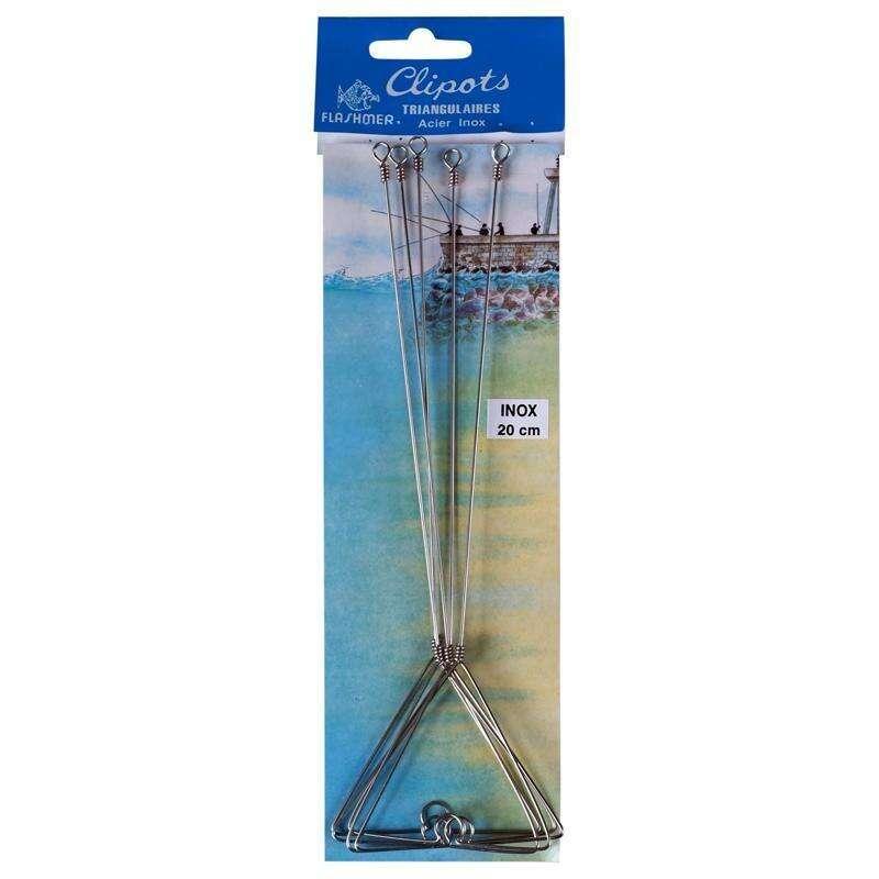 CLIPOT MARE Pesca - Clipot triangolari 16 cm x5 FLASHMER - Pesca a bolentino