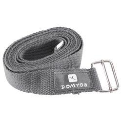 Correa de algodón yoga gris oscuro