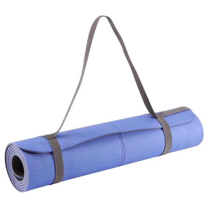 Yogamat TPE voor zachte yoga 5 mm blauw