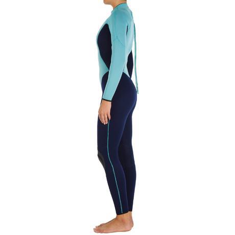 combinaison surf 100 n opr ne 4 3 mm femme bleu tribord. Black Bedroom Furniture Sets. Home Design Ideas