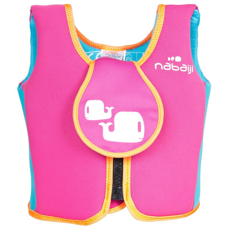 Swim vest pink-yellow