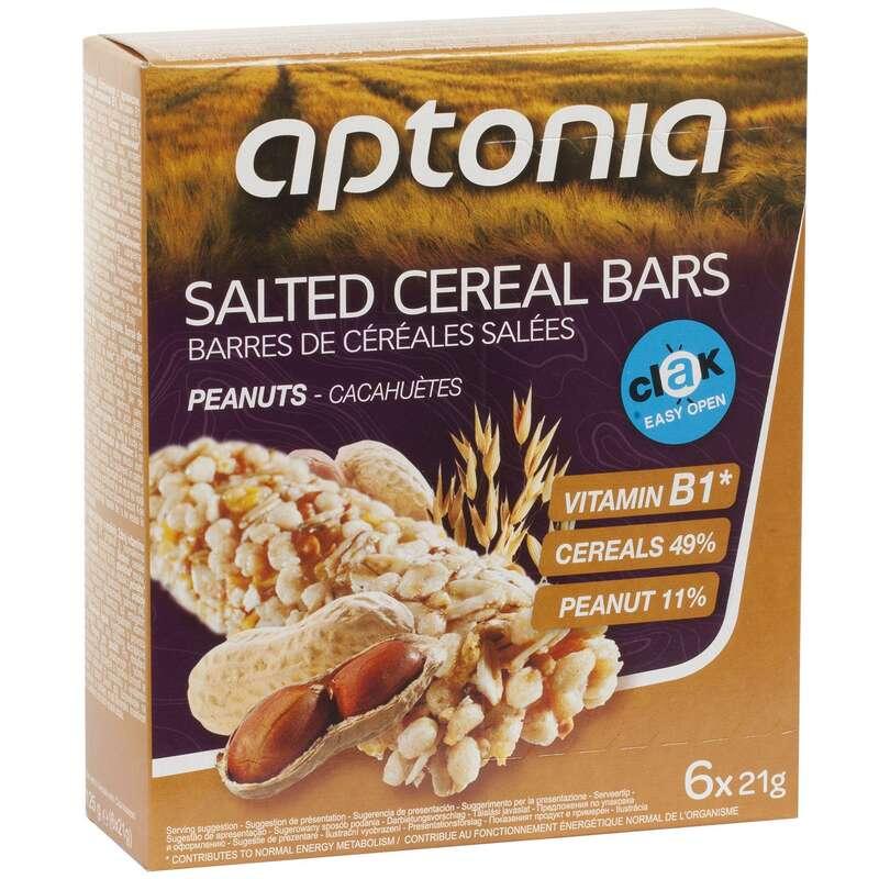 BATOANE, GELURI ȘI RECUPERARE Triathlon - Baton Cereale Arahide 6x21g APTONIA - Nutritie - Hidratare