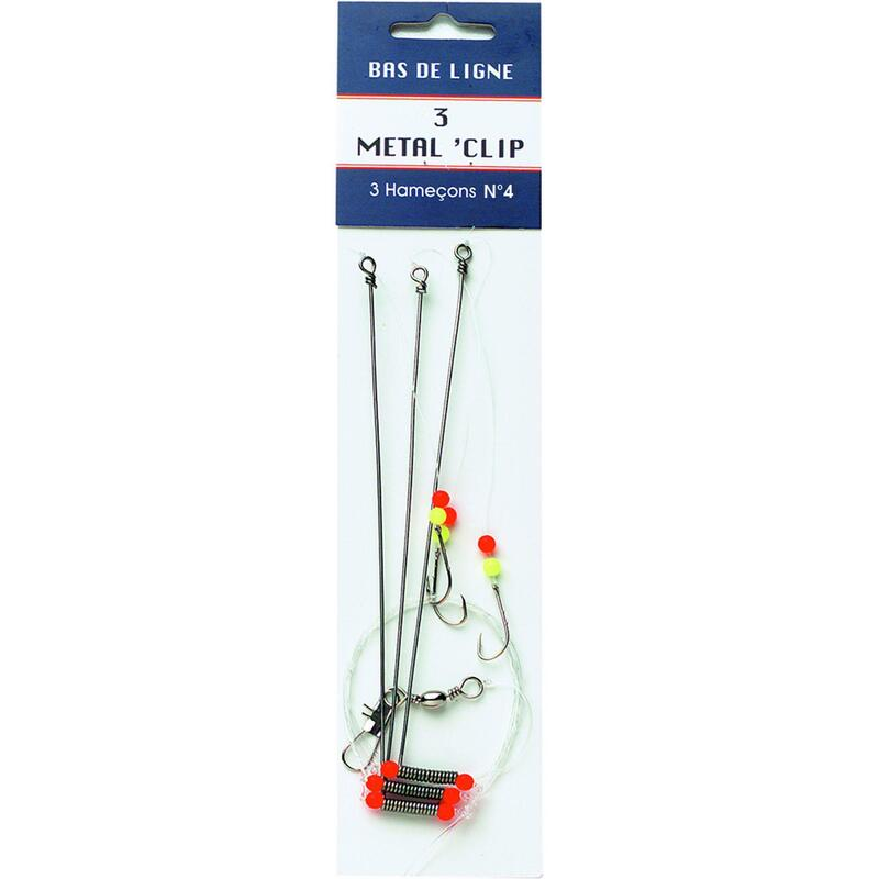 CLIPOTS metal sea fishing line clips 3 x no. 4 hooks