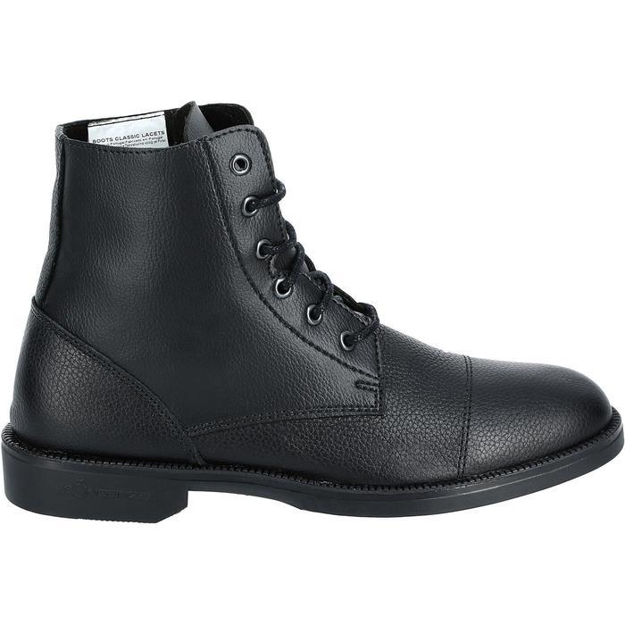 Boots équitation adulte CLASSIC LACETS noir - 919647