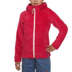 Fleece meisjeshoodie voor trekking Warm - 92026