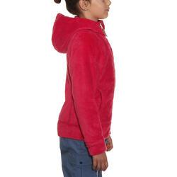 Fleece meisjeshoodie voor trekking Warm - 92027